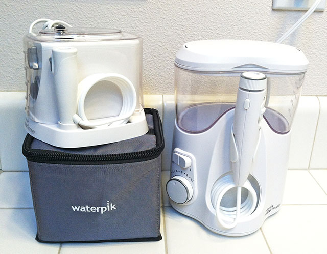 Standard and Travel-Size Waterpik with Carrying Case