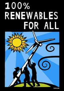 100 Percent Renewables - Rise for Climate Poster