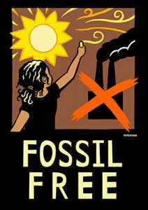 Fossil Free - Rise for Climate Poster