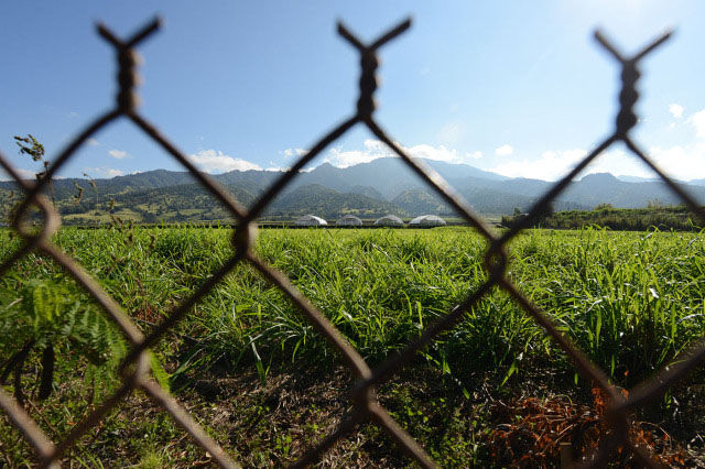High School in Waialua, Hawaii Next to Pesticide Test Field