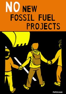 No New Fossil Fuel Projects - Rise for Climate Poster
