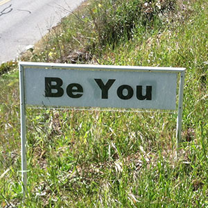 Be You - Happiness Sprinkling Yard Sign - April