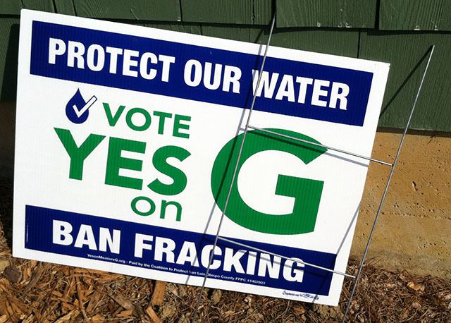 Vote Yes on Measure G Campaign Sign