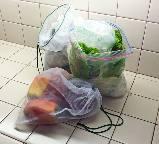Reusable Mesh and Plastic Produce Bags