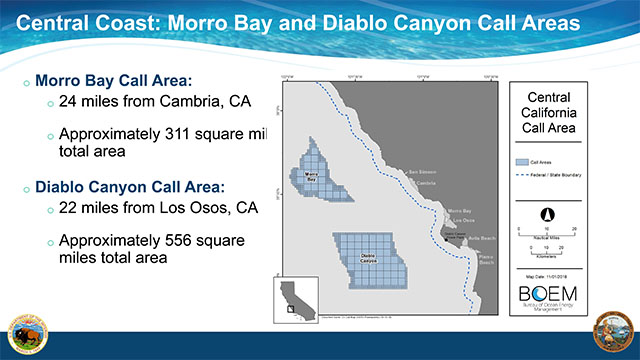 BOEM Central Coast - Morro Bay and Diablo Canyon Call Areas Slide
