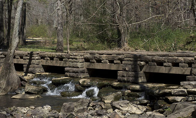 Civilian Conservation Corps Rock Creek Bridge in Little Rock, Arkansas