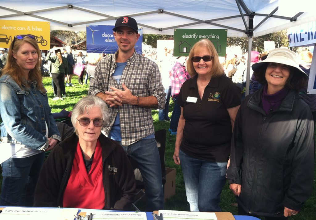 SLO Climate Coalition Booth - Women's March San Luis Obispo, CA - January 19, 2019