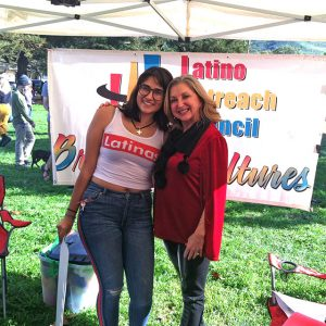 Volunteers at Latino Outreach Council Booth - Women's March San Luis Obispo, CA - January 19, 2019