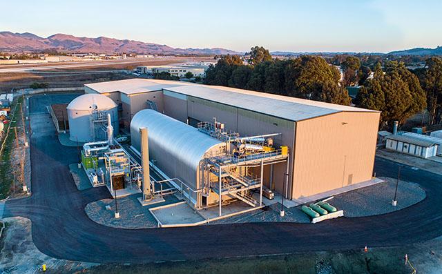Aerial View of Kompogas Plant in San Luis Obispo, CA