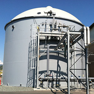 Biogas Storage Tank Safety Measure at San Luis Obispo Kompogas Plant
