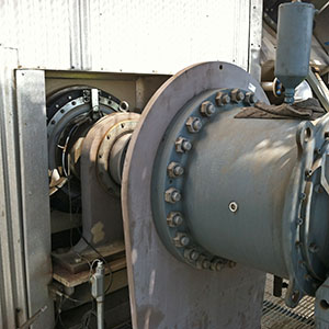 Motor that Turns Agitator Blades in Anaerobic Digester at San Luis Obispo Kompogas Plant