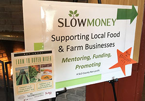 Slow Money SLO Farm to Buyer Mixer Event Sign