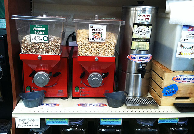 Almond and Peanut Butter Machines, Olive Oil and Honey Dispensers at SLO Natural Foods Co-op