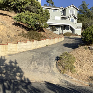 Bottom of Our Steep Driveway