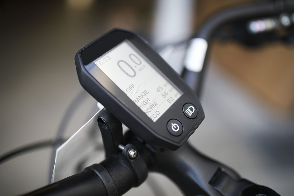 Electric Bicycle Handlebars and Control Panel
