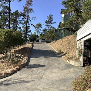Top of Our Steep Driveway