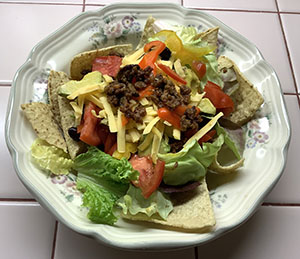 Taco Salad made with Lightlife Smart Ground Meatless Crumbles
