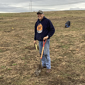 Greenspace Monterey Pine Seedling Project Leader Rick Hawley on January 20, 2020