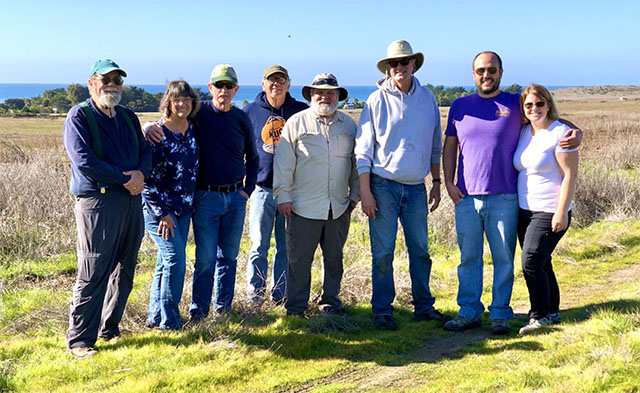 Greenspace Monterey Pine Seedling Project Volunteer Plot Flag Setters