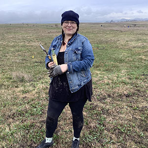 Greenspace Monterey Pine Seedling Project Volunteer Woman on January 20, 2020