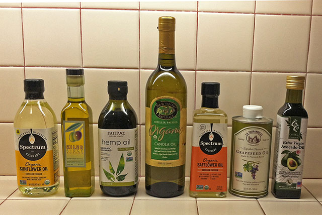 Seven Cooking Oils for Testing